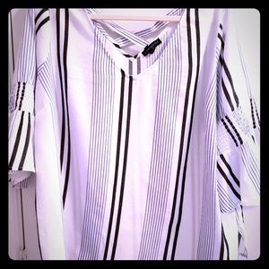 Lane Bryant stripe top. Gently worn size 18/20